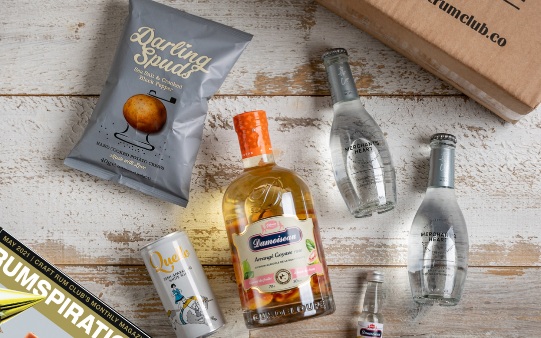 May's Surprise Box of Rum Launch's with Craft Rum Club – Pink Guava d'arranges from Damoiseau, Guadeloupe
