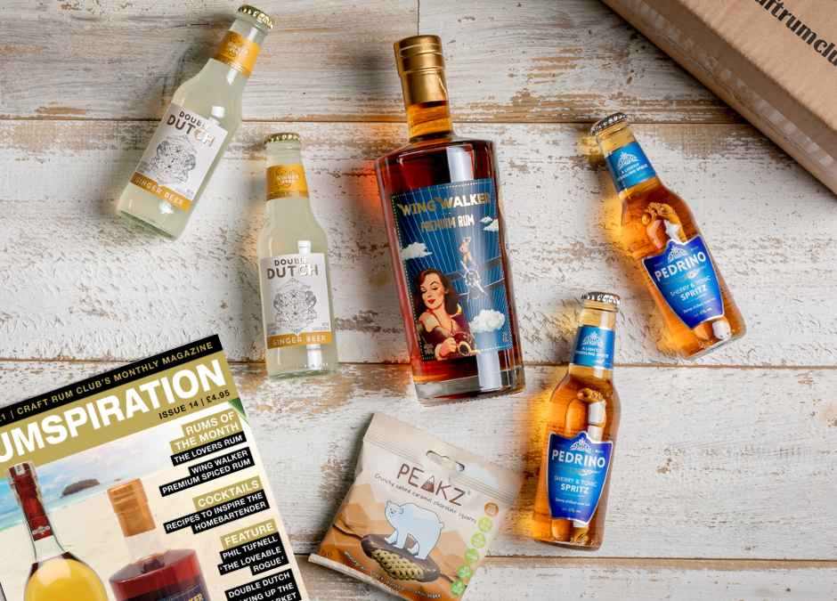 June's Surprise Award Winning SPICED Box of Rum from The Wing Walkers