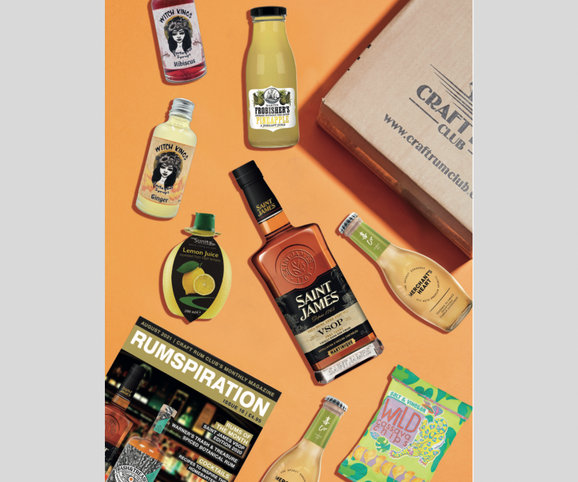 August's Surprise UK Exclusive Craft Box of Rum features Saint James VSOP from Martinique